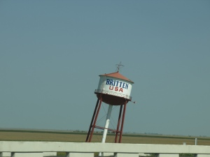 The leaning water tower. I guess its been this way for years.