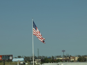 "I love seeing ""Old Glory"" on the road trip."