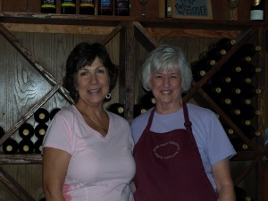 The woman that poured for us at Irvin winery.