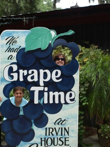 My mom and I having a good time at the Irvin winery (I am a little short)