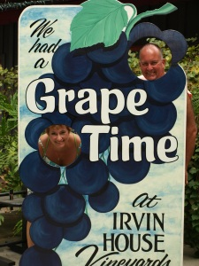 The fireman and his wife at the Irvin winery.