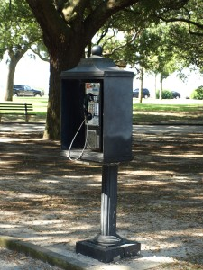 Look at this history. I haven't seen a pay phone in a long time so I had to get this picture.