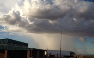 This was a rain cloud out in the distance in New Mexico.