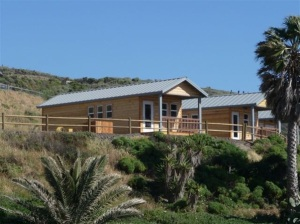 Jalama Beach cabins. There is first come camping, reservation camping and cabins.