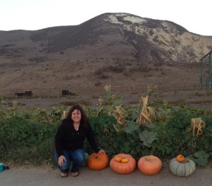 Me and some pumpkins we picked at our friends farm.
