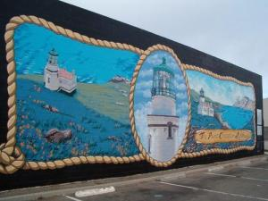 Lompoc murals, these are on the side of many buildings all over town.