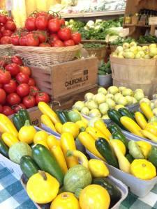 Colorful veggies at Avila Barns, Avila Beach, Ca
