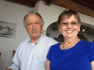 Luigi and my mom. Luigi was the owner of restaurant we went to on the Amalfi coast. It was so good. All fresh hand made food.