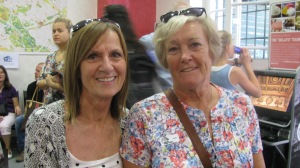 Dee and Wendy from England. They were on our tour and we ran into them twice in Rome while we were there. They are very sweet ladies.