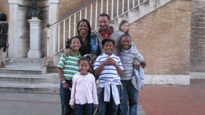 Family from New Jersey. The children have seen the last 2 popes and mom has seen the last 3. I was so impressed by that.