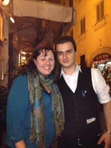 This is Tony and I at Taciolaro Ristorante in Rome. This place had great food and wonderful service.