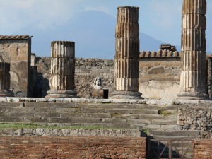 Columns of Pompeii. They are still uncovering this ancient city.