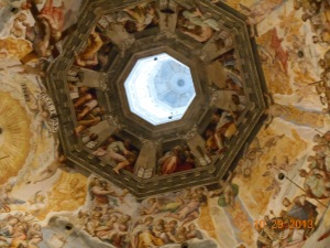 The dome inside St. Croce Basilica