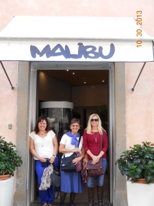 We found Malibu in Lucca, of course we had to go inside.