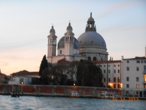 One of the Basilicas in Venice off the Grand Canal