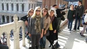 My mom, sisters and myself on top of St. Marc's Basilica