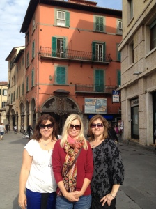 Lucca was a great town, especially for shopping. This is my sisters and myself having a great time.