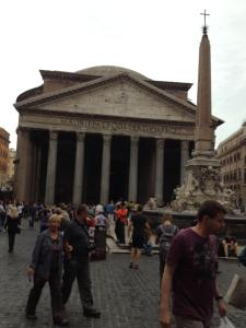 The Pantheon, was a building dedicated to all the gods. Later it was given to the church and converted to a Christian church.