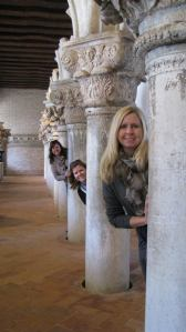 My sisters and I at Doge's Palace, Venice. I love this picture! Just wish my mom was in it. It does go in birth order too.