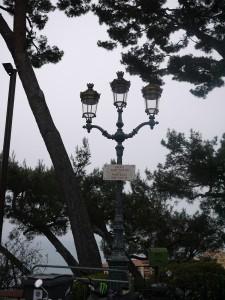 Lamp Post in Monaco. I love the architecture of it.