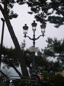 Lamp Post in Monaco. I love the architecture of it.