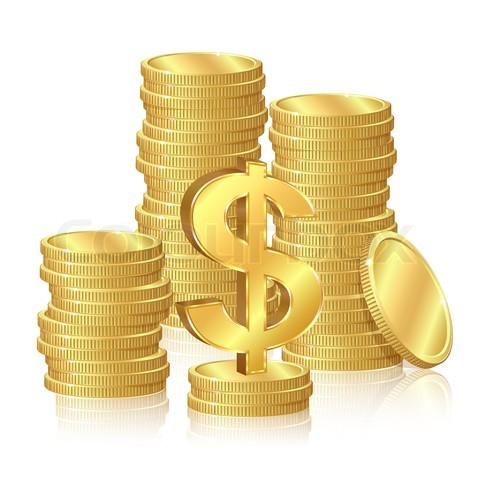 Gold Money Signs -of-gold-coins-and-dollar-