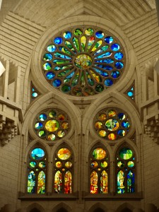 Stained Glass inside Sagrada Familia